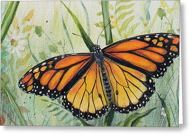 Acrylic On Canvas Greeting Cards - Botanical Beauties-JP2543 Greeting Card by Jean Plout