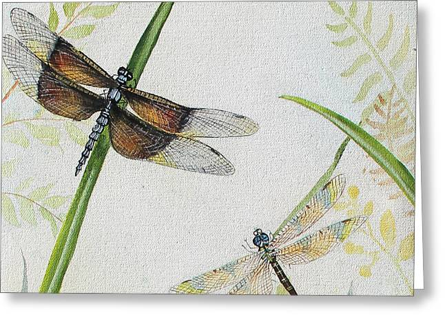 Acrylic On Canvas Greeting Cards - Botanical Beauties-JP2544 Greeting Card by Jean Plout