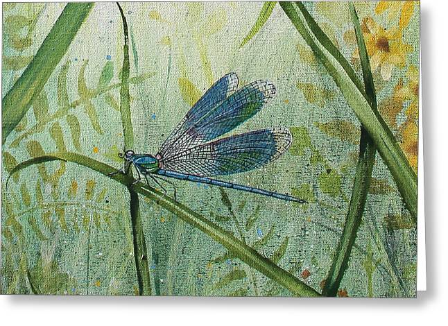 Acrylic On Canvas Greeting Cards - Botanical Beauties-JP2546 Greeting Card by Jean Plout