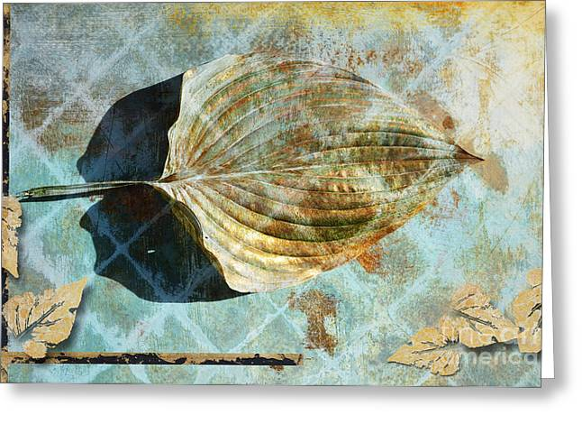 Gilding Greeting Cards - Botanical Gold Leaf Series 3 Greeting Card by Anahi DeCanio