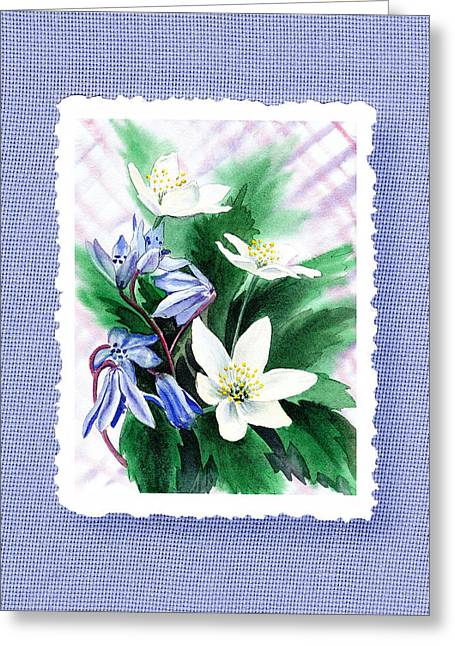Jasmine Greeting Cards - Botanical Impressionism Jasmine Flowers Bouquet Greeting Card by Irina Sztukowski