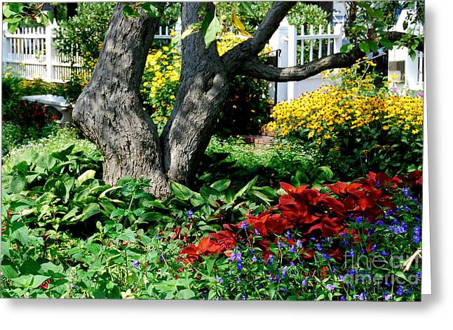 Prescott Greeting Cards - Botanical Landscape 2 Greeting Card by Eunice Miller
