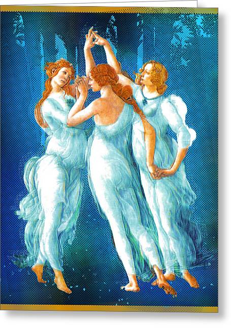 Florence Mixed Media Greeting Cards - Botticelli Pop Remix 1 Greeting Card by Tony Rubino