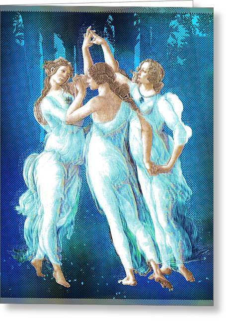 Florence Mixed Media Greeting Cards - Botticelli Pop Remix 2 Greeting Card by Tony Rubino
