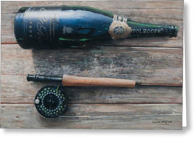 Fizz Greeting Cards - Bottle and Rod I Greeting Card by Lincoln Seligman