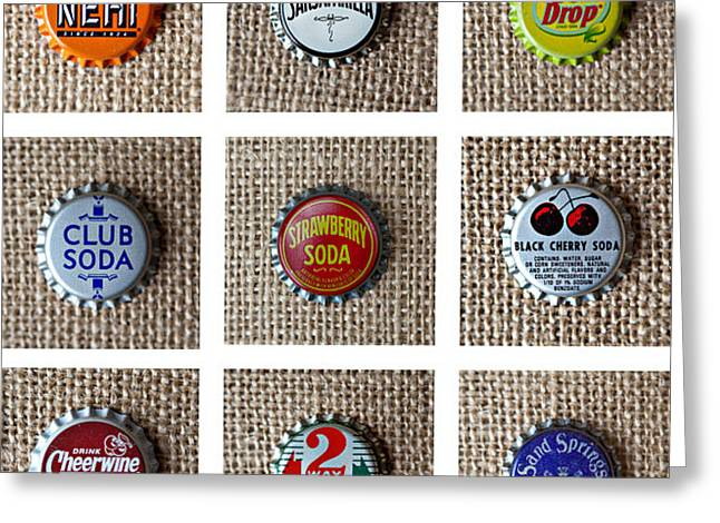 Bottle Caps Greeting Card by Art Block Collections