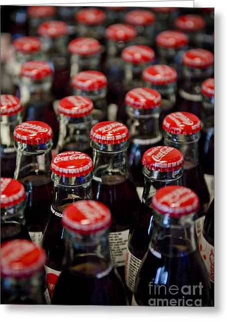 Coca Cola.coke-a-cola Greeting Cards - Bottle Caps Greeting Card by Jessica Berlin