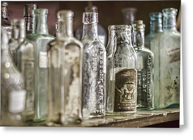 Tincture Greeting Cards - Bottle Collection Greeting Card by Heather Applegate