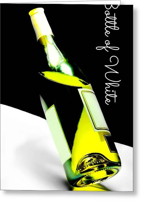 Connoisseur Greeting Cards - Bottle of White Greeting Card by Diana Angstadt