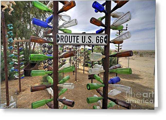 Glass Bottle Greeting Cards - Bottle Ranch  Greeting Card by Rob Hawkins
