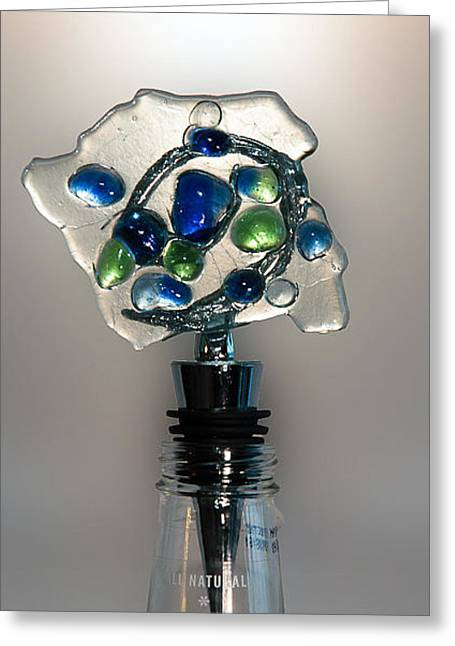 Wine-bottle Glass Greeting Cards - Bottle Stopper 01 Greeting Card by Crush Creations