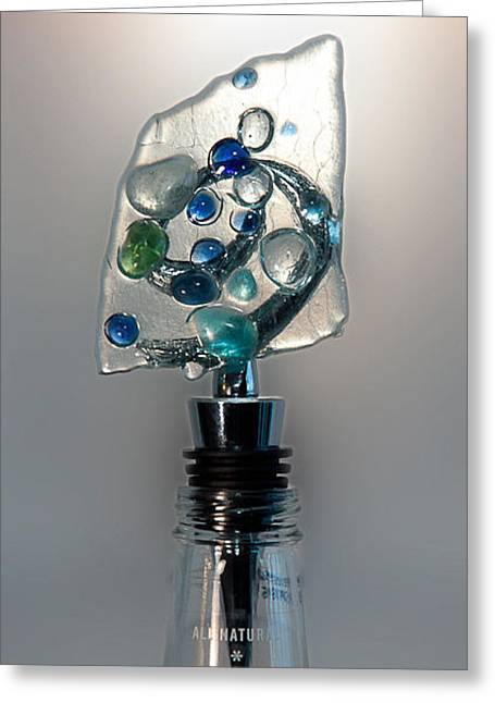 Gift Glass Greeting Cards - Bottle Stopper 03 Greeting Card by Crush Creations