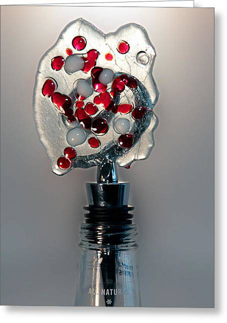 Gift Glass Greeting Cards - Bottle Stopper 05 Greeting Card by Crush Creations