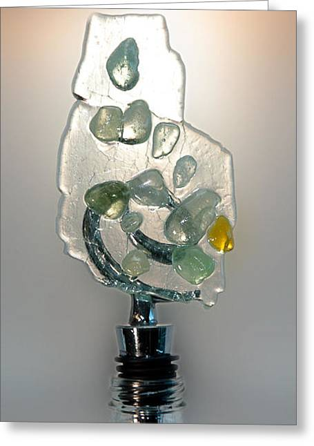 Wine-bottle Glass Greeting Cards - Bottle Stopper 08 Greeting Card by Crush Creations