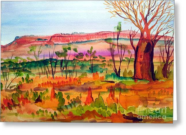 Nature Jewelry Greeting Cards - Bottle Tree in the Kimberley Northern Territory Australia Greeting Card by Roberto Gagliardi
