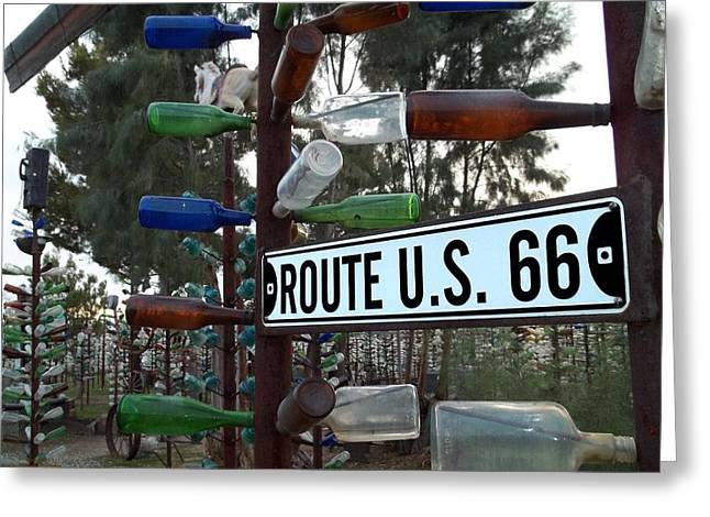 Mccarthy Greeting Cards - Bottle Trees Route 66 Greeting Card by Glenn McCarthy Art and Photography