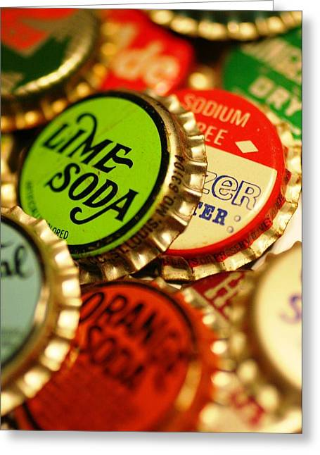 Bottlecaps Greeting Cards - Bottlecaps Greeting Card by Andrew Stolte