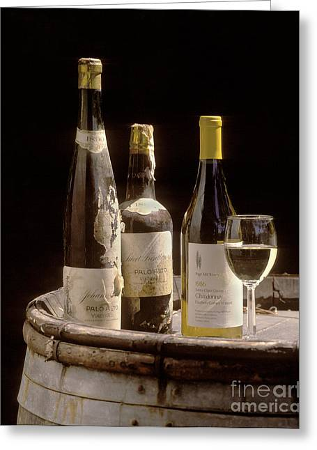 Pages Of Life Photographs Greeting Cards - Bottled Chardonnay 1889 Greeting Card by Craig Lovell