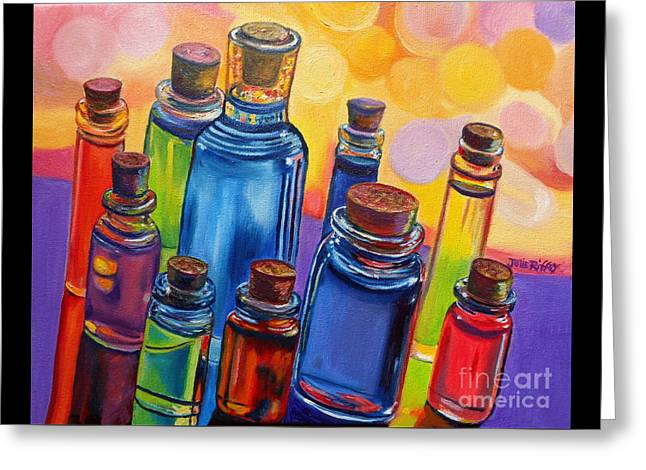 Bottled Rainbow Greeting Card by Julie Brugh Riffey