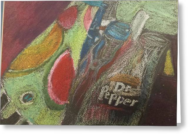 Sugar Cane Pastels Greeting Cards - Bottles And Bottles Greeting Card by Miguel Hernandez
