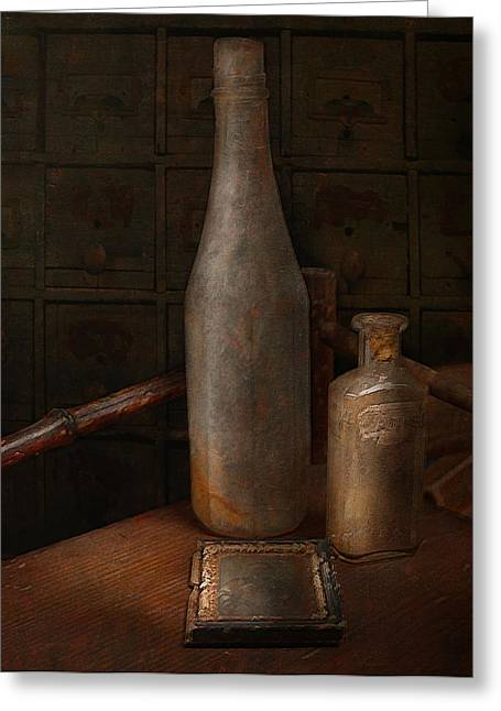 Antique Bottles Greeting Cards - Bottles Greeting Card by Jeff Burgess