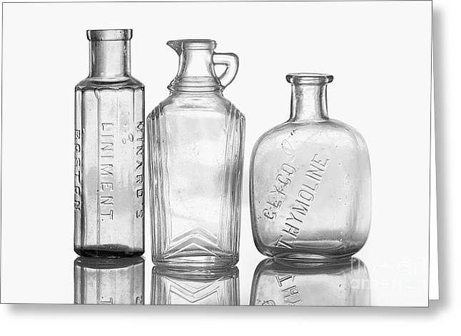 Liniment Greeting Cards - Bottles of Time Greeting Card by Cindi Ressler