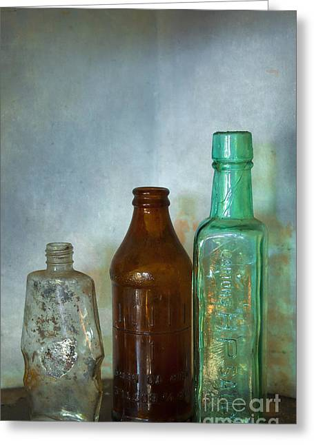 In The Corner Greeting Cards - Bottles Greeting Card by Svetlana Sewell