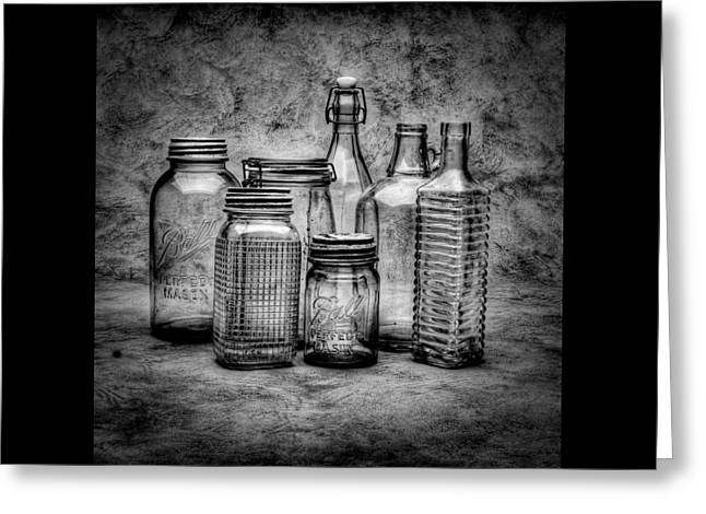 Bottles Greeting Card by Timothy Bischoff