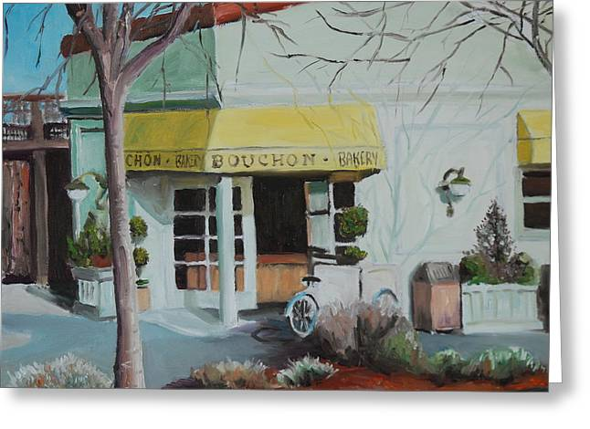 Bouchon Greeting Cards - Bouchon Bakery Greeting Card by Wyn Ericson