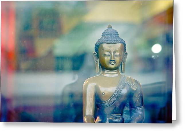 Tibetan Buddhism Greeting Cards - Boudha Nepal Greeting Card by Raimond Klavins