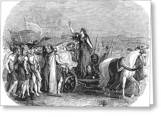 Boudica Leading British Tribes 60 Ad Greeting Card by Photo Researchers