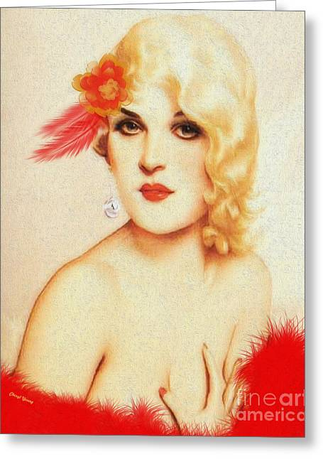 Clothed Greeting Cards - Boudoir Greeting Card by Cheryl Young