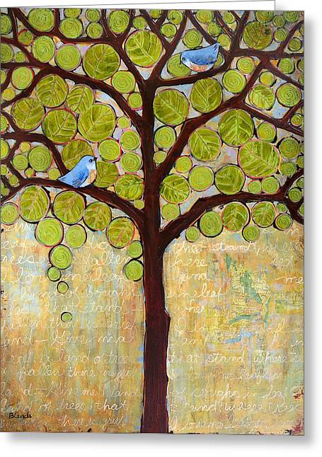 Tree Art Greeting Cards - Boughs in Leaf Tree Greeting Card by Blenda Studio