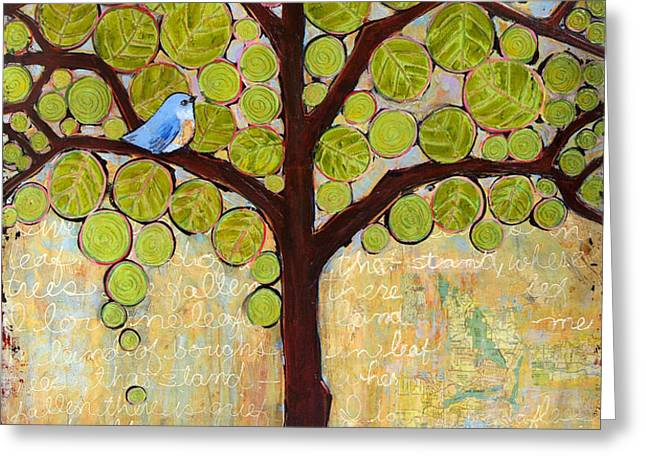 Boughs in Leaf Tree Greeting Card by Blenda Studio