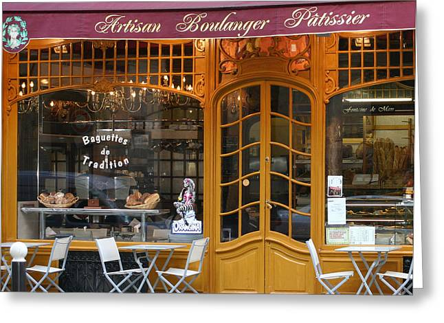 A Morddel Photographs Greeting Cards - Boulangerie Greeting Card by A Morddel