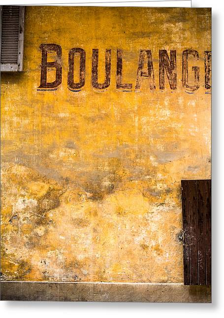 Architectur Greeting Cards - Boulangerie Greeting Card by Instants