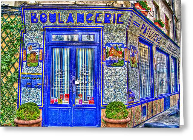 France Doors Digital Art Greeting Cards - Boulangerie Paris Greeting Card by Matthew Bamberg