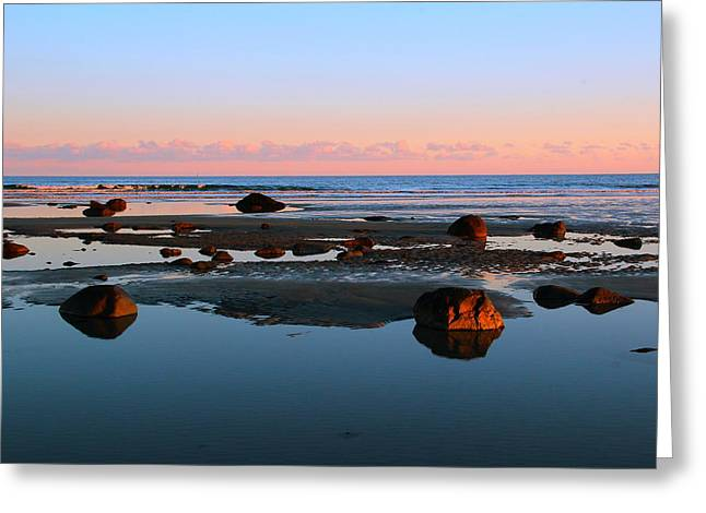 York Beach Photographs Greeting Cards - Boulder Beach Greeting Card by Andrea Galiffi