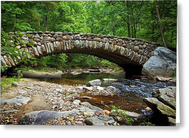 Recently Sold -  - Beautiful Creek Greeting Cards - Boulder Bridge in Rock Creek Park Greeting Card by Mountain Dreams