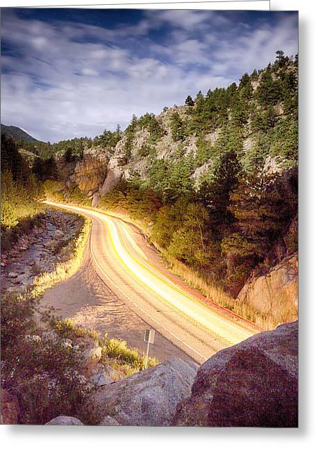 Fishing Creek Greeting Cards - Boulder Canyon Beams Of Light Greeting Card by James BO  Insogna