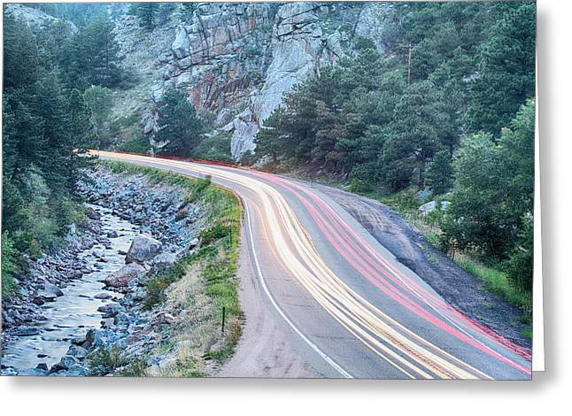 Fishing Creek Greeting Cards - Boulder Canyon Drive and Commute Greeting Card by James BO  Insogna