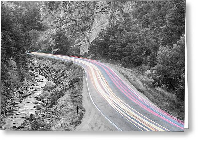 Boulder Canyon Drive And Selective Commute  Greeting Card by James BO  Insogna