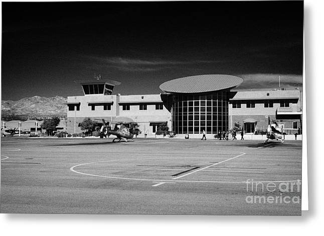 Airport Terminal Greeting Cards - boulder city airport terminal Nevada USA Greeting Card by Joe Fox