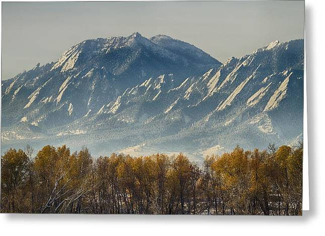 Boulder Colorado Flatirons Autumn View Greeting Card by James BO  Insogna