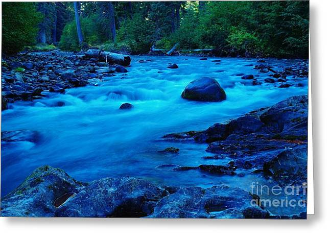 West Fork Greeting Cards - Boulder In The Rapids  Greeting Card by Jeff  Swan