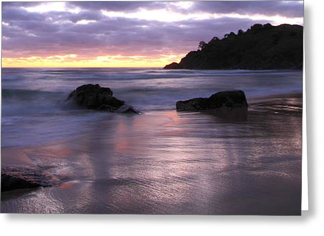 Ocean Vista Greeting Cards - Boulders and Waves 3 Greeting Card by Andrew McInnes