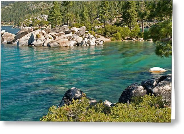 Sand Harbor Greeting Cards - Boulders At Sand Harbor, Lake Tahoe Greeting Card by Panoramic Images