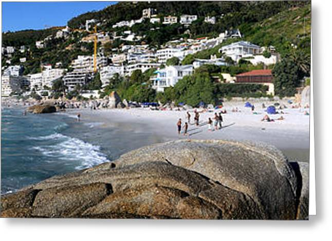 Surf City Greeting Cards - Boulders On The Beach, Clifton Beach Greeting Card by Panoramic Images