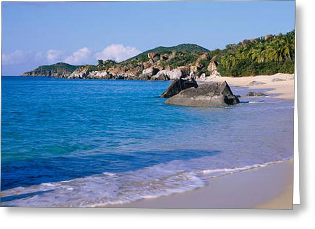 Boulders On The Beach, The Baths Greeting Card by Panoramic Images