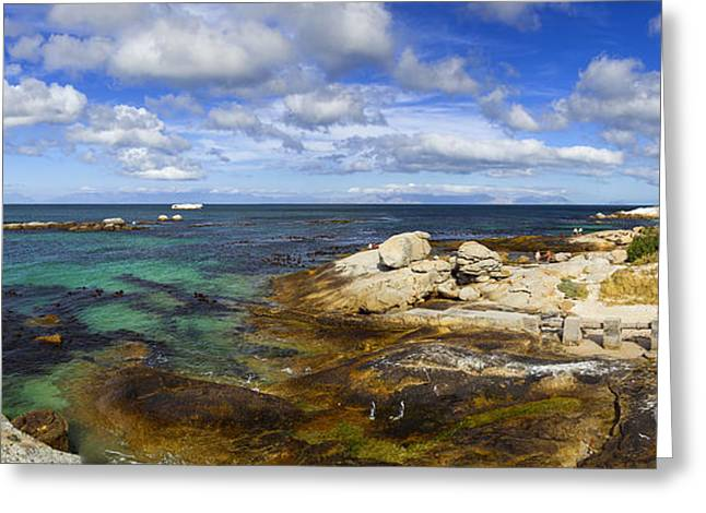 Simons Town Greeting Cards - Boulders Panorama Greeting Card by Katka Pruskova
